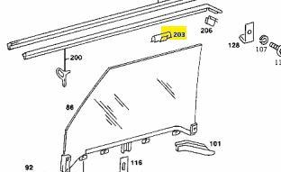 1079880778 W116 W107 door window clip €4.00 Chassis