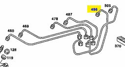 1100703132 M110 Cyl NO.5 Fuel Line €99.00 Chassis