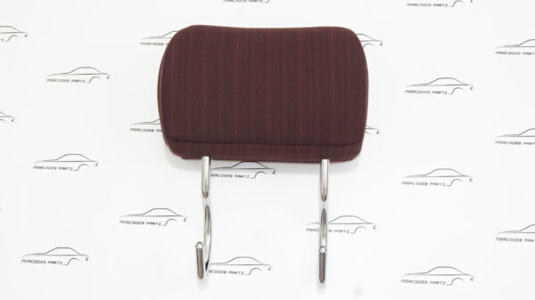 A1249700050 , 1249700050 3105 red , W124 rear seat bench headrest red fabric