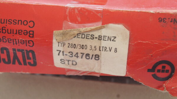 GLYCO 71-3476/08 71-3476/8 STD , A1165861003 , 1165861003 , A1165861703 , A1165861703 , A1160300760 , 1160300760 , M116 M117 connecting rod bearing STD