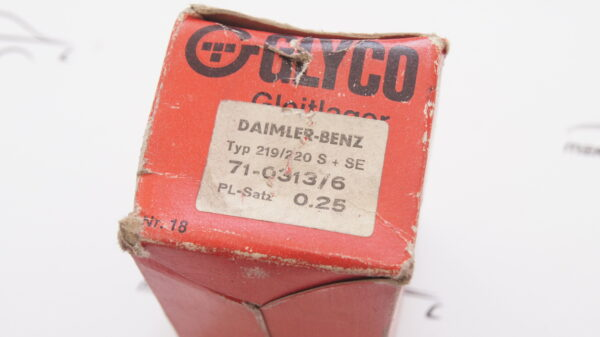 GLYCO 71-0313/6 0.25mm , 1800301160 , 1270300160 , A1800301160 , A1270300160 , 6-2540 CP 0.25 ,Kolbenschmidt 87958610 , M180 M127 connecting rod bearing repair size I 0.25mm 47.75mm