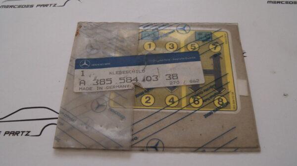 A3855840338 , 3855840338 , Gummed label 8spd